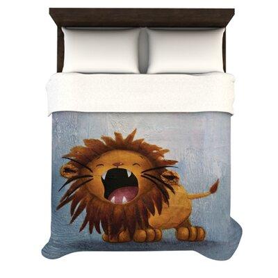 KESS InHouse Dandy Lion Fleece Duvet Cover