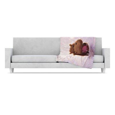 KESS InHouse The Happy Hippo Fleece Throw Blanket