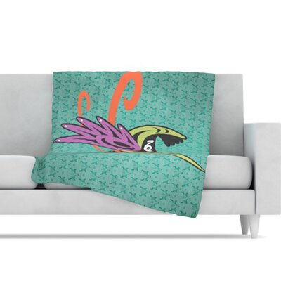 KESS InHouse Hummingbird Friends Fleece Throw Blanket