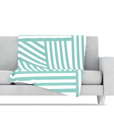 KESS InHouse Stripes Fleece Throw Blanket
