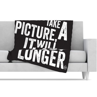 KESS InHouse Take a Picture Fleece Throw Blanket