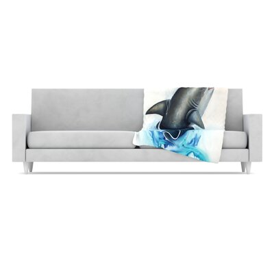 KESS InHouse Lucid Microfiber Fleece Throw Blanket