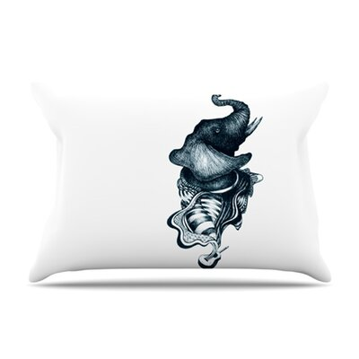 KESS InHouse Elephant Guitar Microfiber Fleece Pillow Case