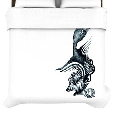 KESS InHouse Swan Horns Duvet Collection