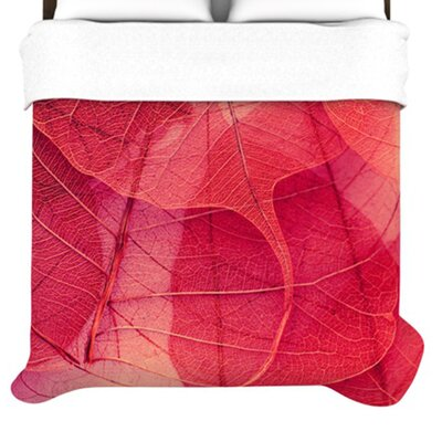 KESS InHouse Delicate Leaves Duvet