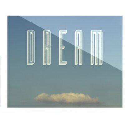 KESS InHouse Dream Print by Anna Farath Textual Art Plaque