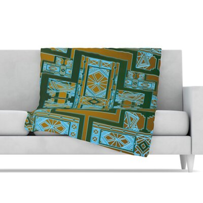 KESS InHouse Golden Art Deco Fleece Throw Blanket