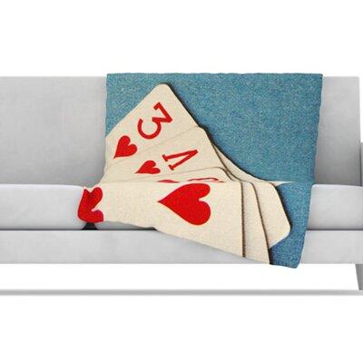 KESS InHouse Love Fleece Throw Blanket