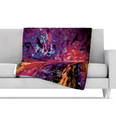 KESS InHouse Passion Flowers II Fleece Throw Blanket