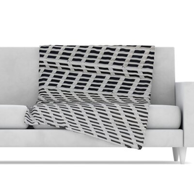 KESS InHouse The Grid Fleece Throw Blanket