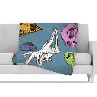 KESS InHouse Skulls Fleece Throw Blanket