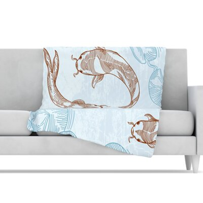 KESS InHouse Koi Fleece Throw Blanket