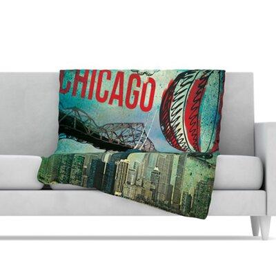 KESS InHouse Chicago Microfiber Fleece Throw Blanket