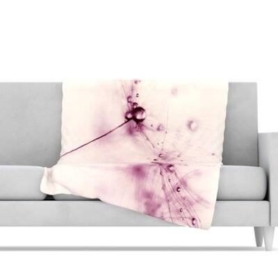 KESS InHouse Blush Microfiber Fleece Throw Blanket