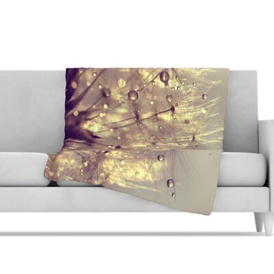 KESS InHouse Sparkles of Gold Microfiber Fleece Throw Blanket
