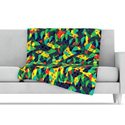KESS InHouse Fruit and Fun Microfiber Fleece Throw Blanket