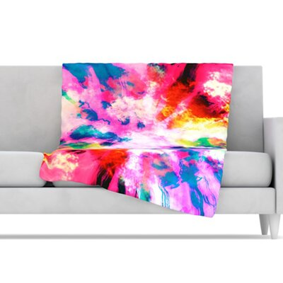 KESS InHouse Technicolor Clouds Microfiber Fleece Throw Blanket