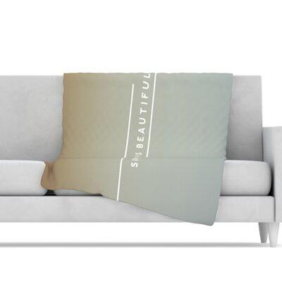 KESS InHouse Simple Beautiful Microfiber Fleece Throw Blanket