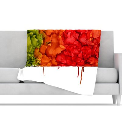 KESS InHouse Fall Splatter Microfiber Fleece Throw Blanket
