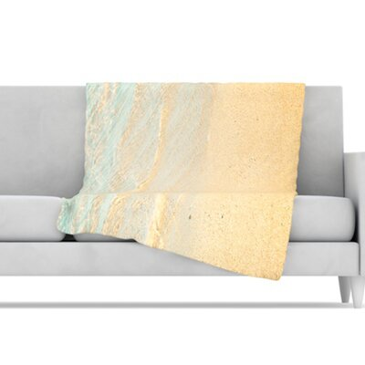 KESS InHouse Ombre Water Microfiber Fleece Throw Blanket
