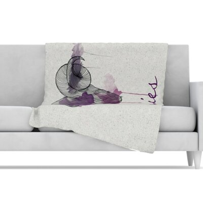 KESS InHouse Aries Microfiber Fleece Throw Blanket