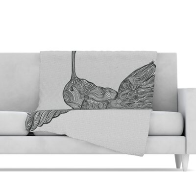 KESS InHouse Hummingbird Microfiber Fleece Throw Blanket