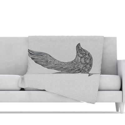 Dove Microfiber Fleece Throw Blanket