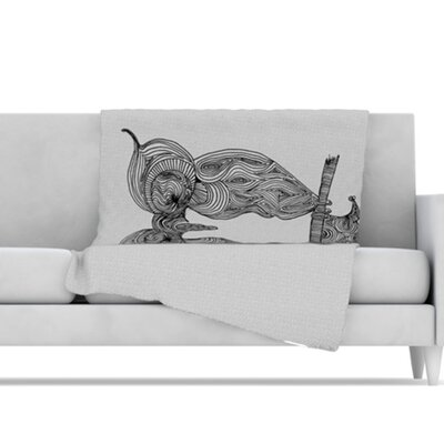 KESS InHouse Owl Microfiber Fleece Throw Blanket