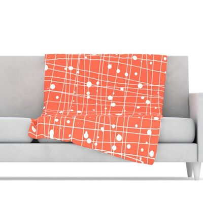 KESS InHouse Woven Web I Microfiber Fleece Throw Blanket