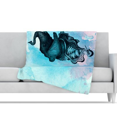KESS InHouse Elephant Guitar III Microfiber Fleece Throw Blanket