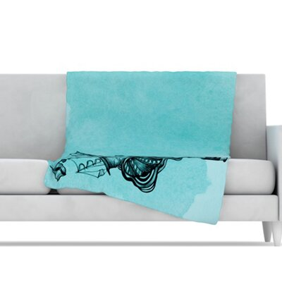 KESS InHouse All Aboard Microfiber Fleece Throw Blanket