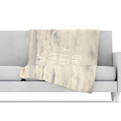KESS InHouse Fly Away Pretty Bird Microfiber Fleece Throw Blanket