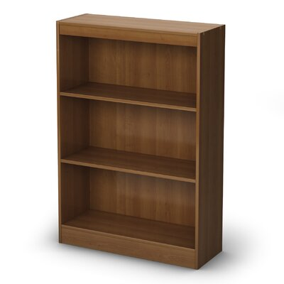 South Shore Axess Three Shelf Bookcase in Morgan Cherry