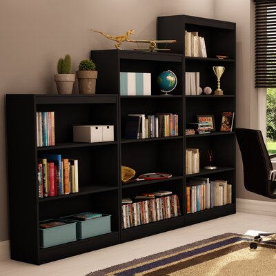 South Shore Axess Three Shelf Bookcase in Black