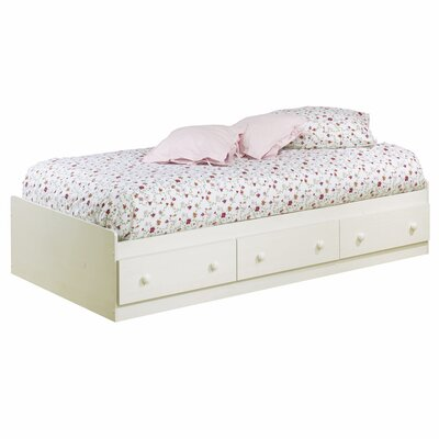 South Shore Summer Breeze White Wash Mates Bed