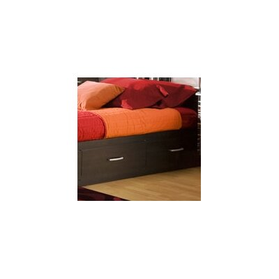 South Shore Lexington Twin Mates Bed Box (Black Onyx)