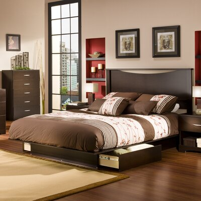 South Shore Infinity Queen Storage Platform Bed