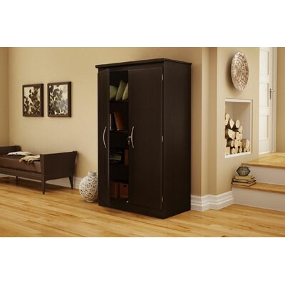 South Shore Morgan Collection Storage Cabinet in Chocolate