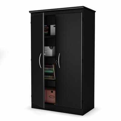 South Shore Morgan Collection Storage Cabinet in Pure Black