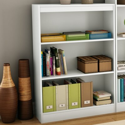 South Shore Axess Three Shelf Bookcase in Pure White