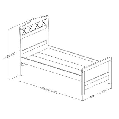 South Shore Tiara Twin Bed with Trundle