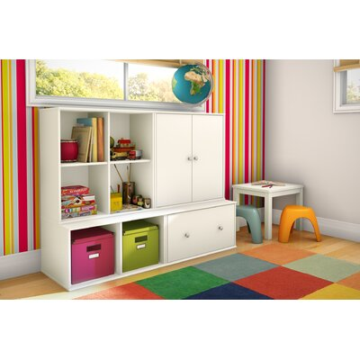 South Shore Stor It Two Door Four Cubby Storage Unit in Pure White