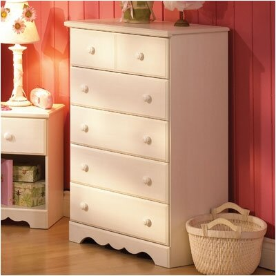 South Shore Summer Breeze White 5 Drawer Chest