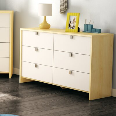 South Shore Cookie 6 Drawer Standard Dresser
