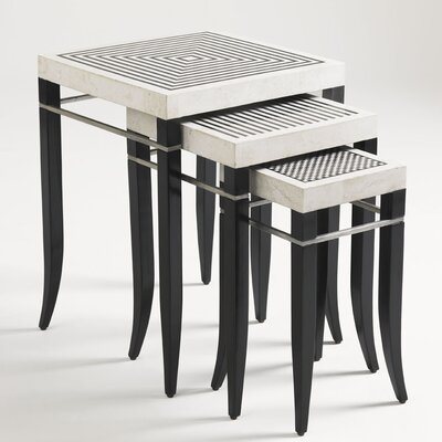 Quadrant 3 Piece Nesting Tables