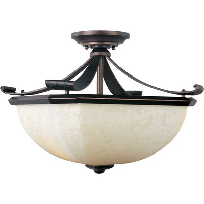 Maxim Lighting Oak Harbor 2 Light Semi Flush Mount