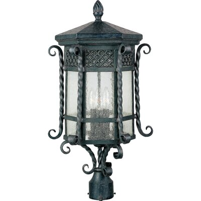 Maxim Lighting Scottsdale Outdoor Post Lantern in Country Forge