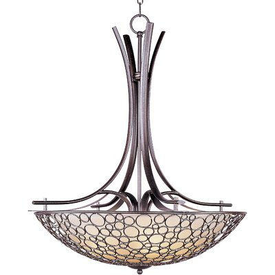 Meridian 4 Light Bowl Inverted Pendant