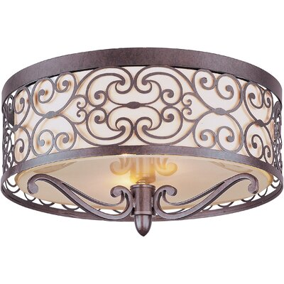 Maxim Lighting Mondrian 2 Light Flush Mount