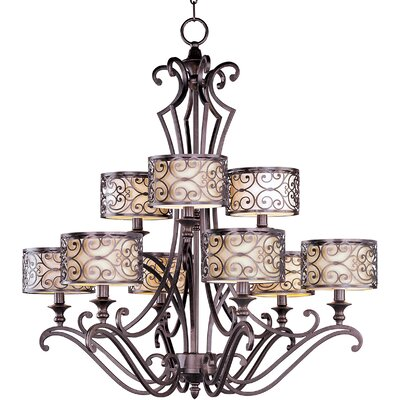 Maxim Lighting Mondrian 9 Light Chandelier